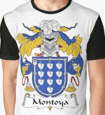 Montoya Coat of Arms/Family Crest Graphic T-Shirt