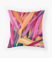 Insanely Lush Pink Tropical Throw Pillow