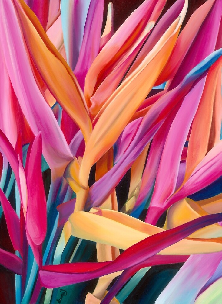 Insanely Lush Pink Tropical by louisetaylorart