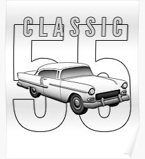1955 Classic Vintage American Car Poster