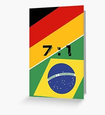 The 2014 World Cup semi-final Greeting Card