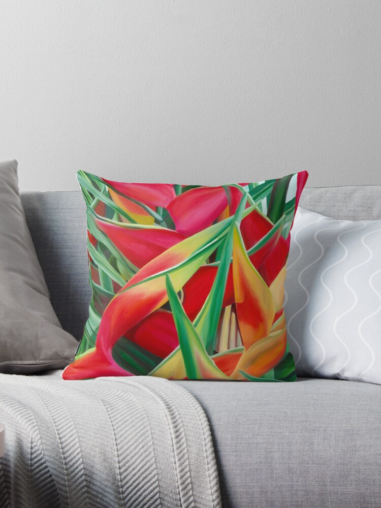 Insanely Lush Scarlet Tropical by louisetaylorart