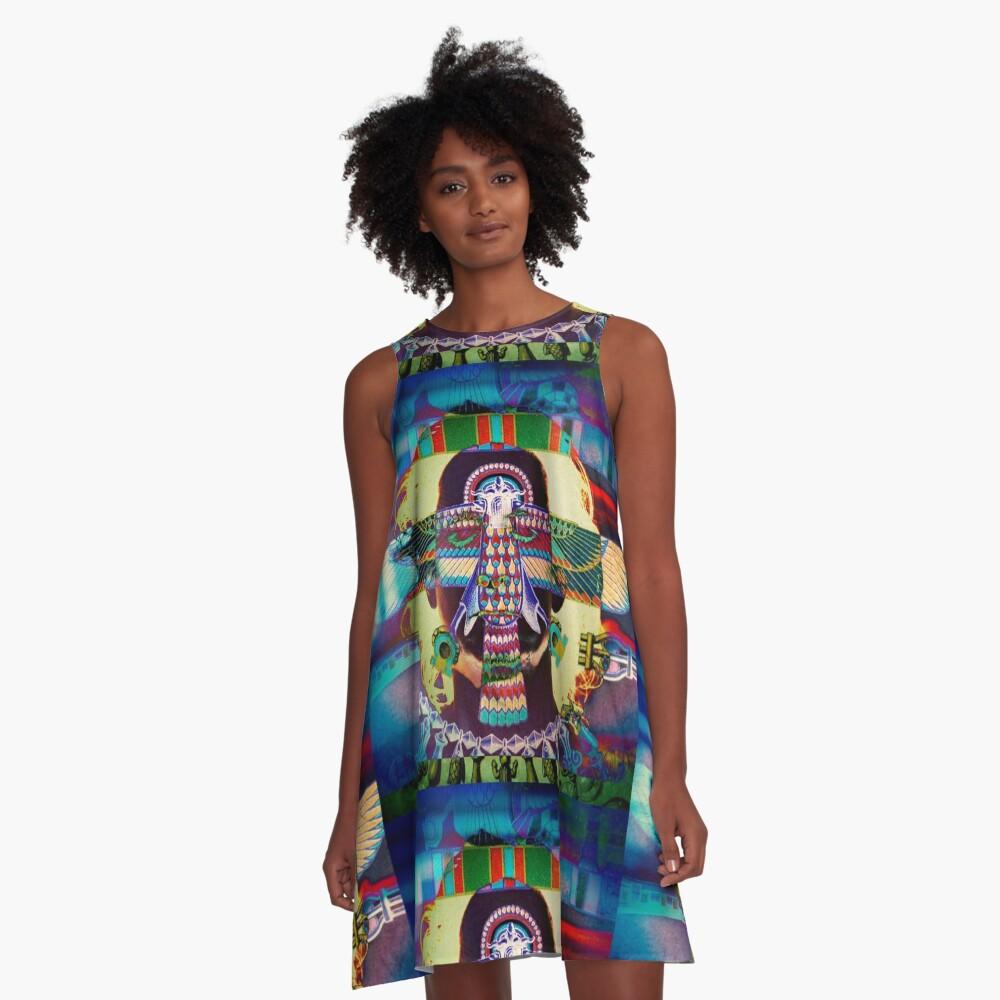 5864 A-Line Dress Front