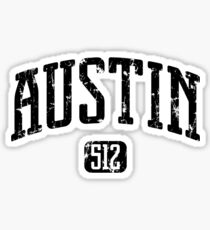 Austin 512 (Black Print) Sticker