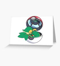 SnivyBall Greeting Card