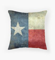"""The """"Lone Star Flag"""" of The Lone State Texas Throw Pillow"""