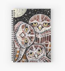 Burrowing Owl Family Spiral Notebook