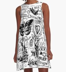 Larry Stylinson Tattoos A-Line Dress