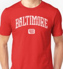 Baltimore 410 (White Print) T-Shirt