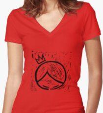 super cooper logo merch Women's Fitted V-Neck T-Shirt
