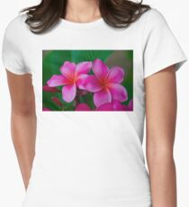 Pink Plumeria 1073 Women's Fitted T-Shirt