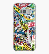 marvel comics pattern Samsung Galaxy Case/Skin