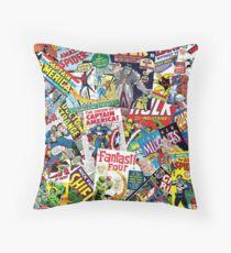marvel comics pattern Throw Pillow