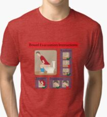 Evacuation instructions Tri-blend T-Shirt
