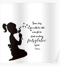 Reading Fairytales, CS Lewis Quote Poster