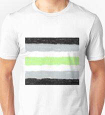 Agender Pride Flag (Spraypaint) T-Shirt