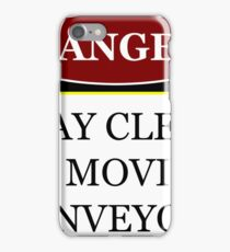 Danger stay clear of moving conveyor construction sign vector png iPhone Case/Skin