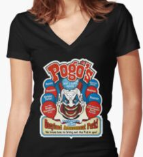 Pogo's Rent a Clown Service and Gacyland Amusement Park Women's Fitted V-Neck T-Shirt