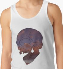 skull w/ some clouds behind Tank Top