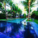 Villa Shambala Pool Seminyak Bali by Ronald Rockman