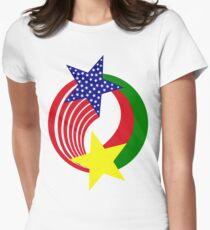 Burkina Faso American Multinational Patriot Flag 2.0 T-Shirt