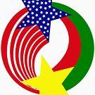 Burkina Faso American Multinational Patriot Flag 2.0 by Carbon-Fibre Media