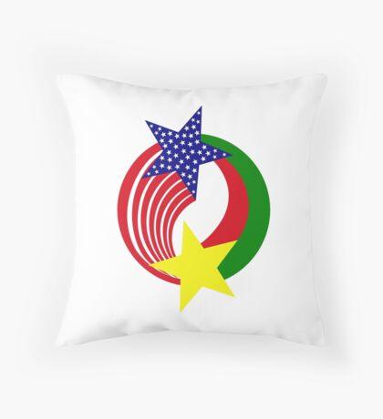 Burkina Faso American Multinational Patriot Flag 2.0 Throw Pillow