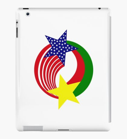 Burkina Faso American Multinational Patriot Flag iPad Case/Skin