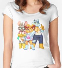 Bubsy Reboot - Bubsy, Oblivia and Virgil Women's Fitted Scoop T-Shirt