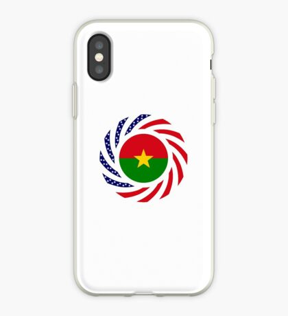 Burkina Faso American Multinational Patriot Flag 1.0 iPhone Case