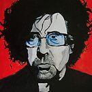 Tim Burton acrylic on Canvas by Sarah Horsman