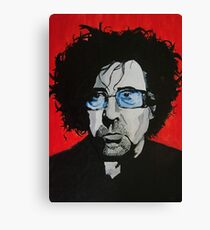 Tim Burton acrylic on Canvas Canvas Print