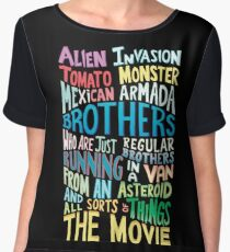Rick and Morty Two Brothers Handlettered Quote Women's Chiffon Top