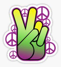 Bright Neon Peace Sign Sticker