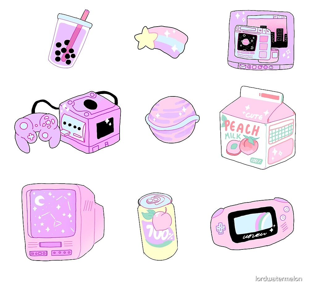 Aesthetic Stickers #1 by lordwatermelon