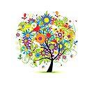 Floral tree summer by Kudryashka
