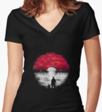 Gotta Catch 'em all! Women's Fitted V-Neck T-Shirt