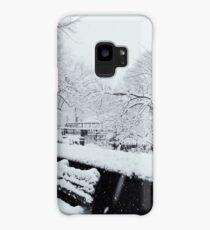 Snowy Bench Case/Skin for Samsung Galaxy