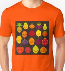 Happy Fruits on black Unisex T-Shirt