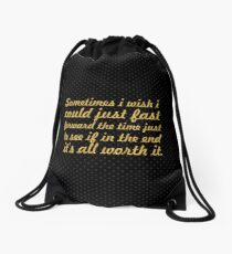 Some times i wish... Inspirational Quote Drawstring Bag