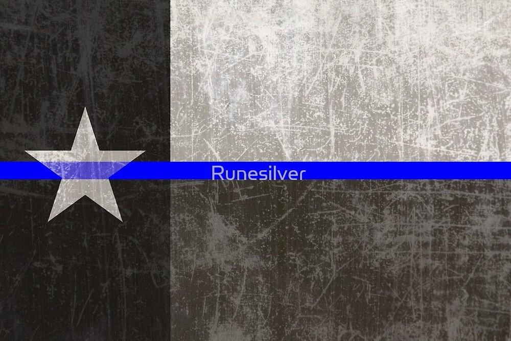 Texas Thin Blue Line By Runesilver