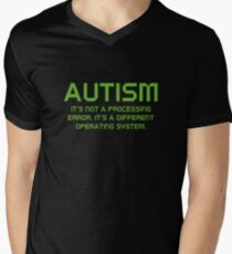 Autism Operating System Men's V-Neck T-Shirt