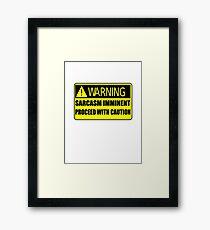 Sarcasm Imminent Framed Print