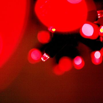 Cool Christmas Fairy Lights Red by tobiphoto