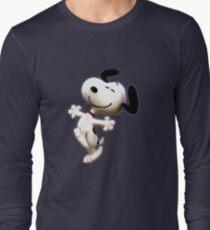 Snoopy, peanut, happy dog,  Long Sleeve T-Shirt