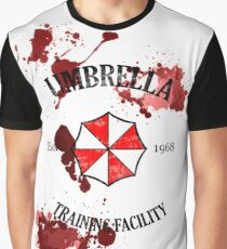 Umbrella Training Facility Vintage Resident Evil Graphic T-Shirt