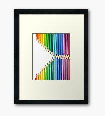 Pencil Zip Framed Print
