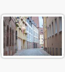 Quiet Empty Street Sticker