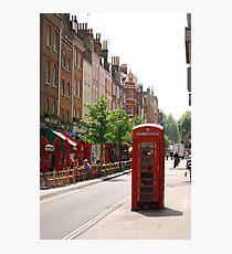 London Telephone Booth Photographic Print
