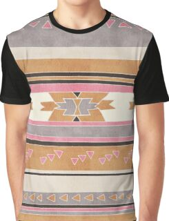 Rustic Tribal Pattern in Raw Sienna, Strawberry and Ash Graphic T-Shirt